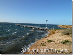 Gale at Louth Bay jetty